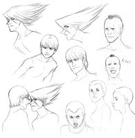 Cyborg 009 sketchdump by bluestraggler