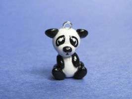 Sad Panda Charm by DragonsAndBeasties