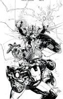 Avengers by Segovia - inks by JeffGraham-Art