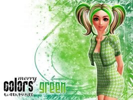 Merry Colors: Green by DarkNova666