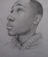 Self Portrait Drawing 02 by AnthonyAKABenny