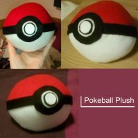 Pokeball Plush by TombRaiderKuchen