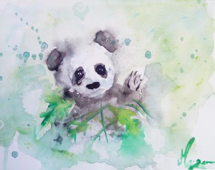The cute panda by Persona-Morgane