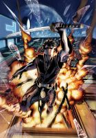 Ninjak Cover Color 02 by Lobote