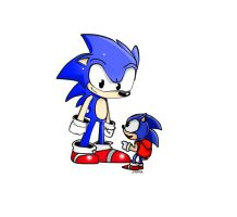 Satam Sonic with Sonic 3. by ShadowtailsDerol