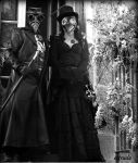 Lord and Lady Plague Doctor BW by Estruda