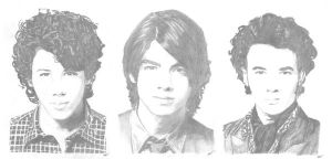 Jonas Brothers drawing 2 by Riancaa