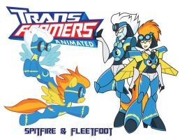 Transformares Spitfire and Fleetfoot by Inspectornills