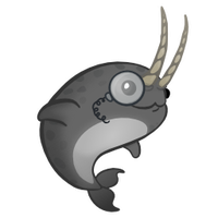 Natty Narwhal icon by Corvocollorosso