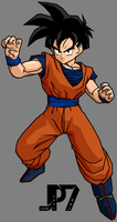 Teen Gohan Bojack Movie Outfit T.A. by jeanpaul007