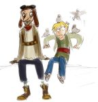 HA - Pigeon Man and kid Miles by SquirrelTamer
