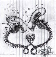 Xenomorph Love by OnyxWildcat