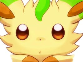 Leafeon Closeup by asdfg21