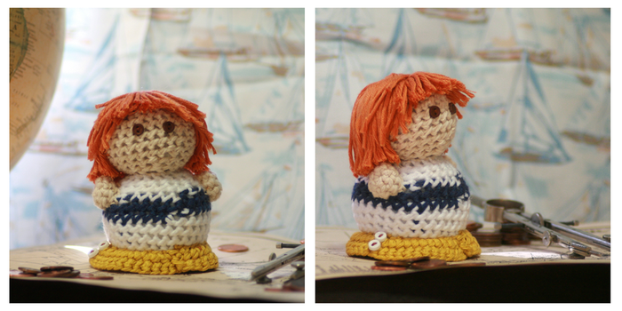 Hand-Crocheted One Piece Plushie - Nami by hookedonchibis