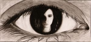 Bill  Kaulitz in an eye by irkadirka