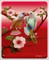 Valentine Love Birds by mk-kayem