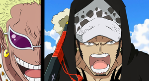 Trafalgar Law and Donquixote Doflamingo by xxHxAxx