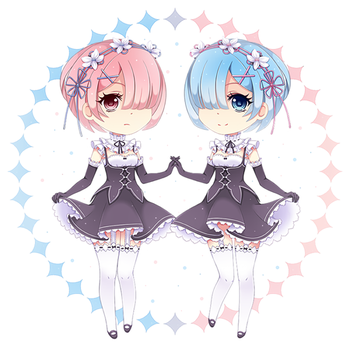 Ram and Rem by milkyLeMoon