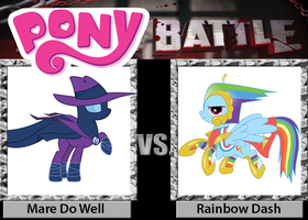 Mare Do Well VS Rainbow Dash PONY BATTLE!! by Chu4eon