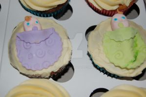 Baby Shower Cupcakes II by JanJL