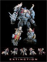 Custom Dinobots and combiner Exstinction by amazoness-king