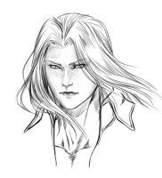 Sephiroth rough sketch by Washu-M