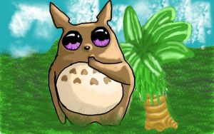 baby totoro by CoolTreeko
