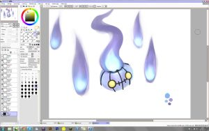 WIP - Chandelure by VolatileFortune