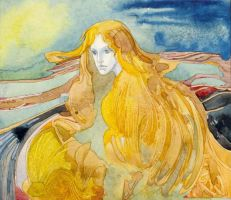 Gold waves by kupria