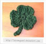 One Piece Crochet Shamrock by WireMySoul