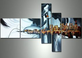 Abstract painting Toronto Multipanel Painting by Fabuart