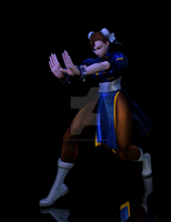 wip render chun li by SallibyG-Ray