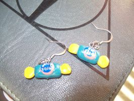 jolly rancher earrings by ichigoluv