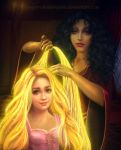 Rapunzel and Mother Gothel by yourpsychotherapist