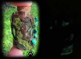 SOLD enchanted tree heart mini bottle  GLOWING! by CreaturesofNat