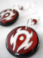 WoW Horde Earrings design 2 by Erisana