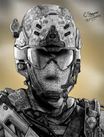 Call of Duty: Black Ops 2 - Fan Art Drawing by LethalChris