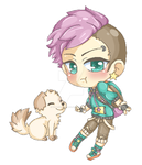 Chibi of OC Carter for Blobical gif by Willowbranwen