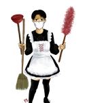 [SnK] Shingeki no Cleaning Maid by Hope-and-Fate