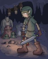 LoZ - Cave Lurkers by CrackaWindow
