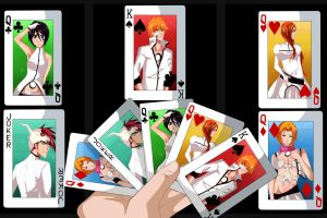 Aizen's Cards by LivingPlaywrite