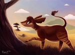 Day 5 - Okapi by Cryptid-Creations