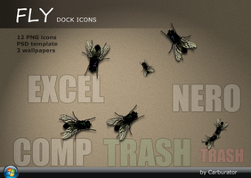 Fly dock icons by Carburator