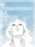 Customary Xmas Card by lizleeillustration