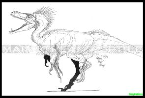 Kickass Deinonychus by SizzyBubbles