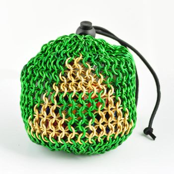 Triforce Chainmaille Dice Bag by crazed-fangirl