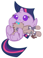 Baby Twilight's New Friend by Beavernator