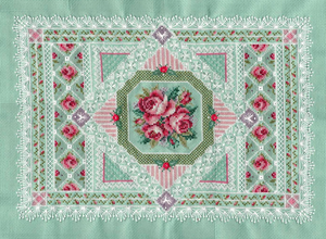 Roses and Lace Sampler by pinkythepink