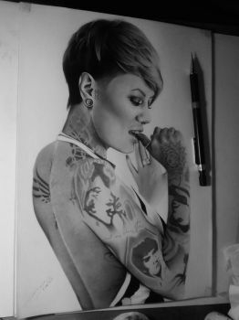 girl with tattoos by gagi1991