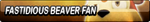 Fastidious Beaver (Sonic Boom) Fan Button by TBalazs2000